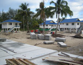 The houses we built.. I stayed in the middle one.. along with 7 other people